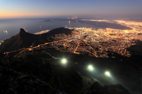 Cape Town Blue Hour from Table Mountain