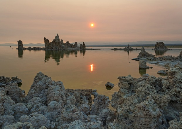 Hazy Mono Lake Sunrise