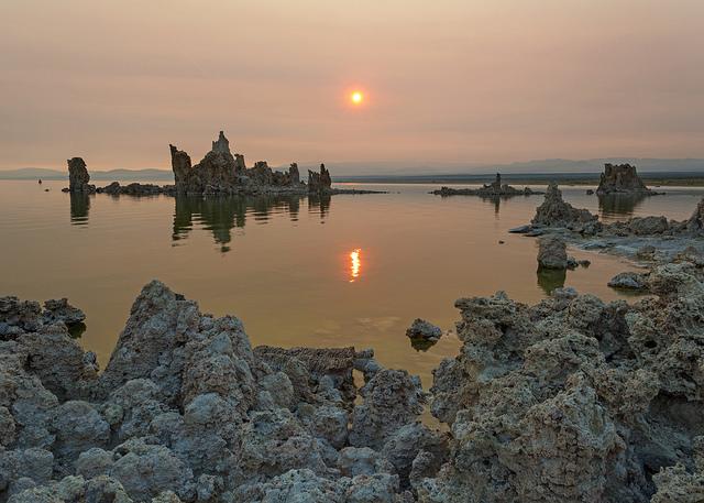 Hazy Mono Lake Sunrise