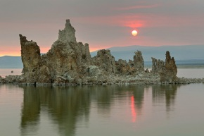 Hazy Sunrise at Mono Lake
