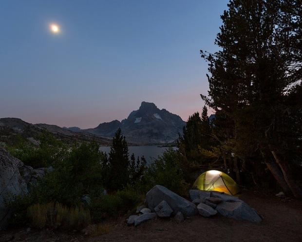 Moon Over Thousand Island Lake Campsite