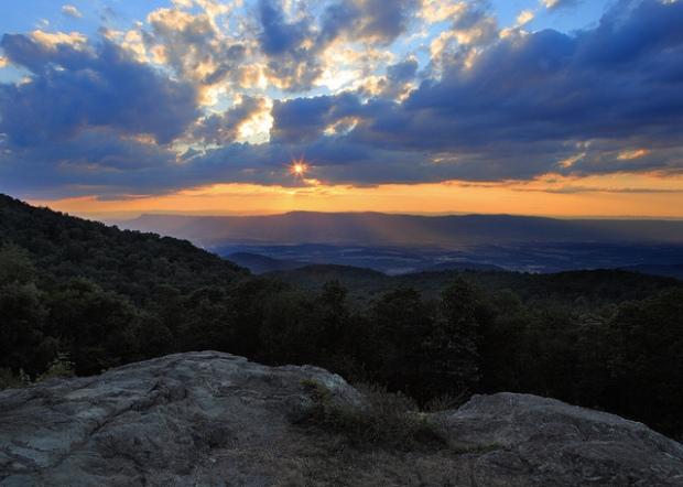 Sunset Light at Shenandoah National Park