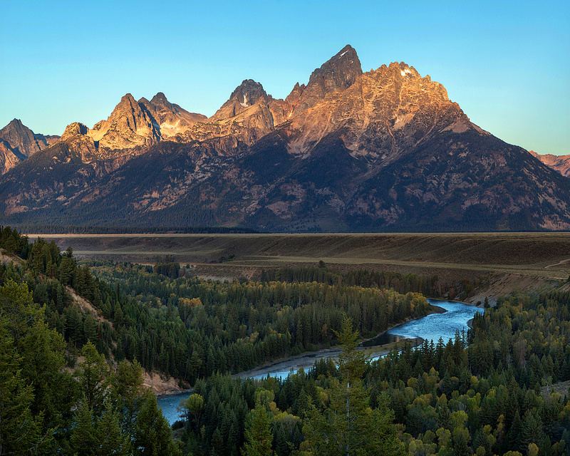 First Light on Grand Teton