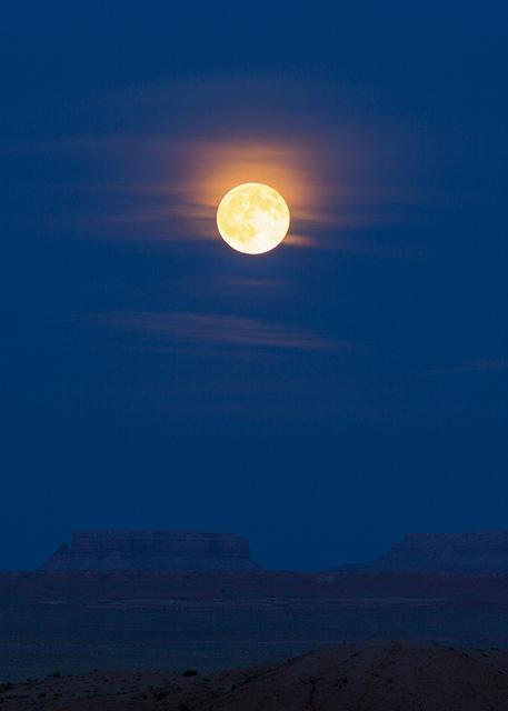 Full Moon Over Goblin Valley