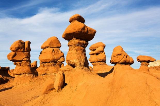Hoodoo Formations in Goblin Valley