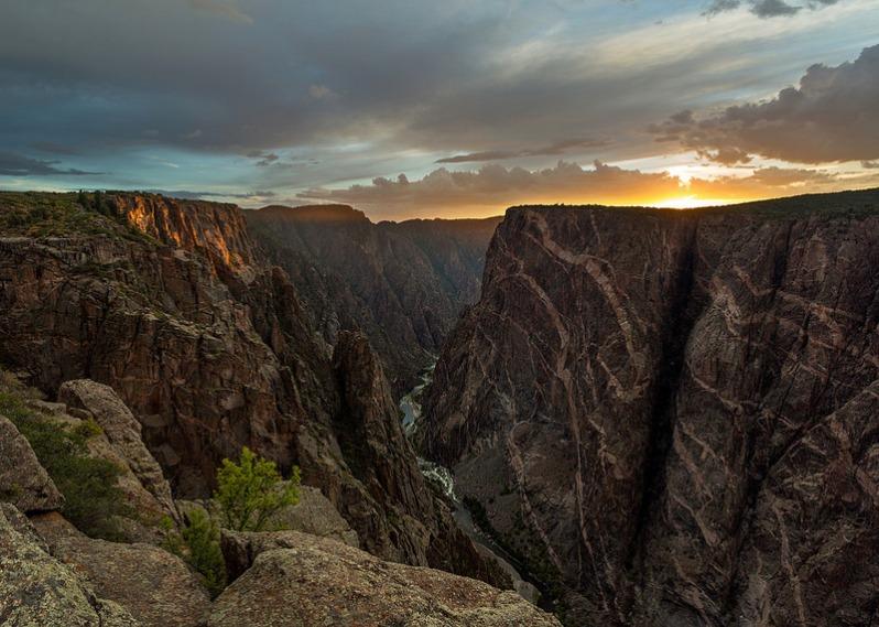 Last Light at Black Canyon NP