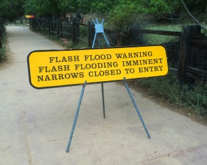 Narrows Closed Sign