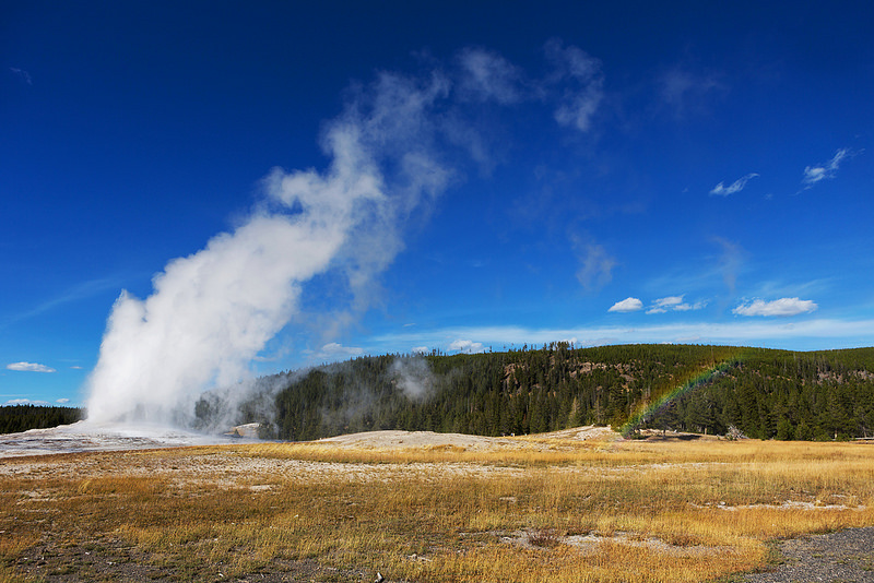 Old Faithful Rainbow