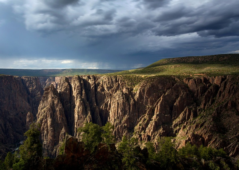 Rain Over Black Canyon NP