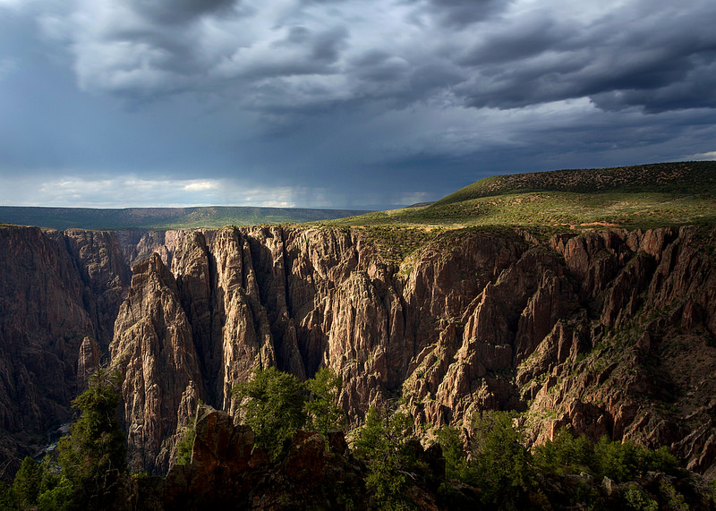 Rain Over Black Canyon NP