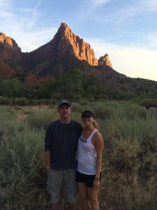 Rob and Alicia at Zion