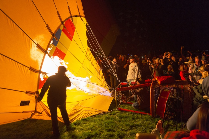 Balloon Inflation Before Dawn