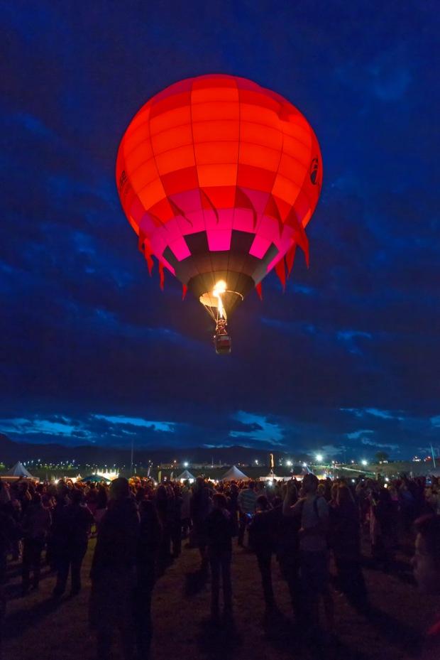 Balloon Rising Before Dawn