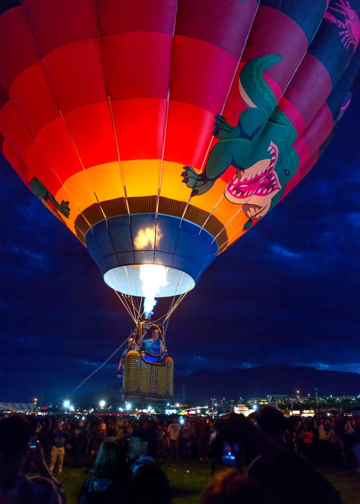 Balloon Taking Off Before Dawn
