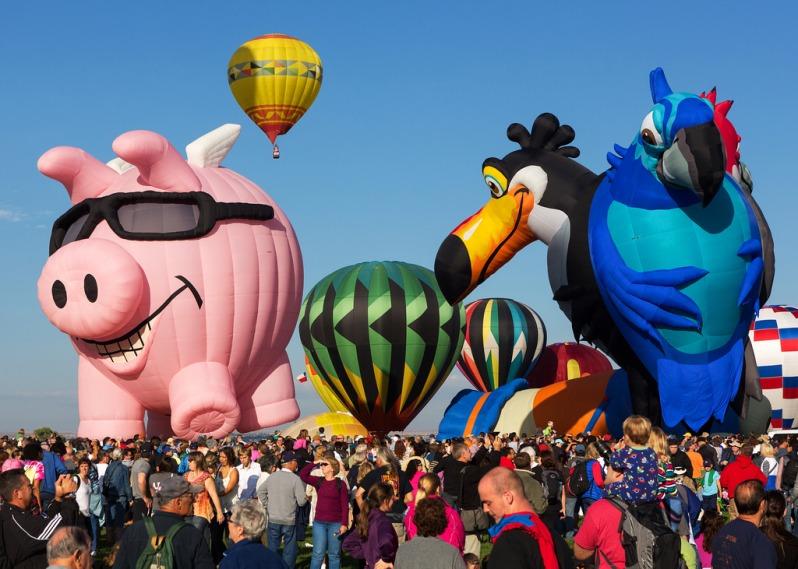 Balloons Preparing to Launch