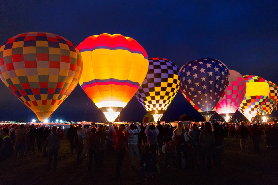 Blue Hour Balloon Lineup