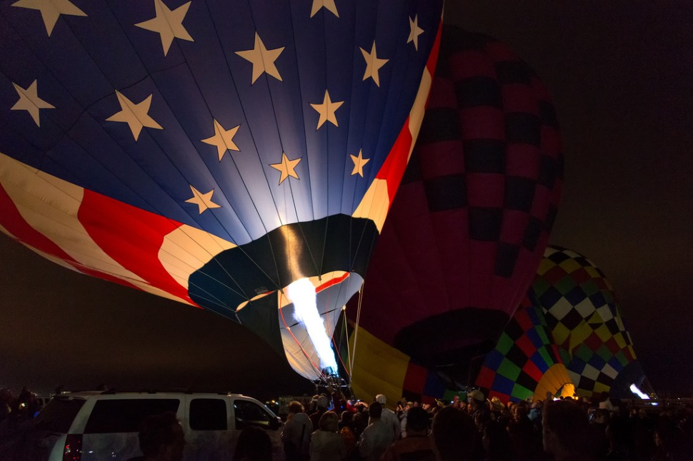 Flag Balloon Inflating