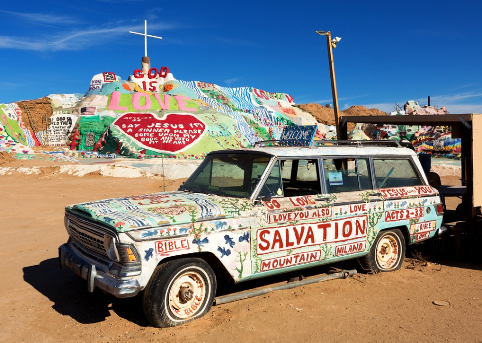 Salvation Mountain Car