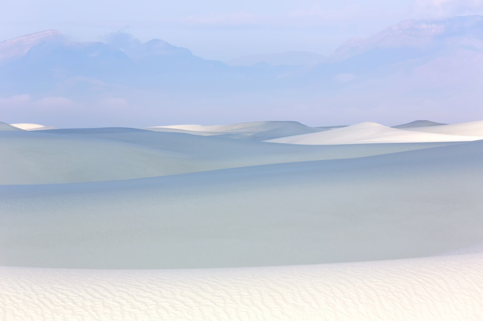 Soft Light White Sands Landscape