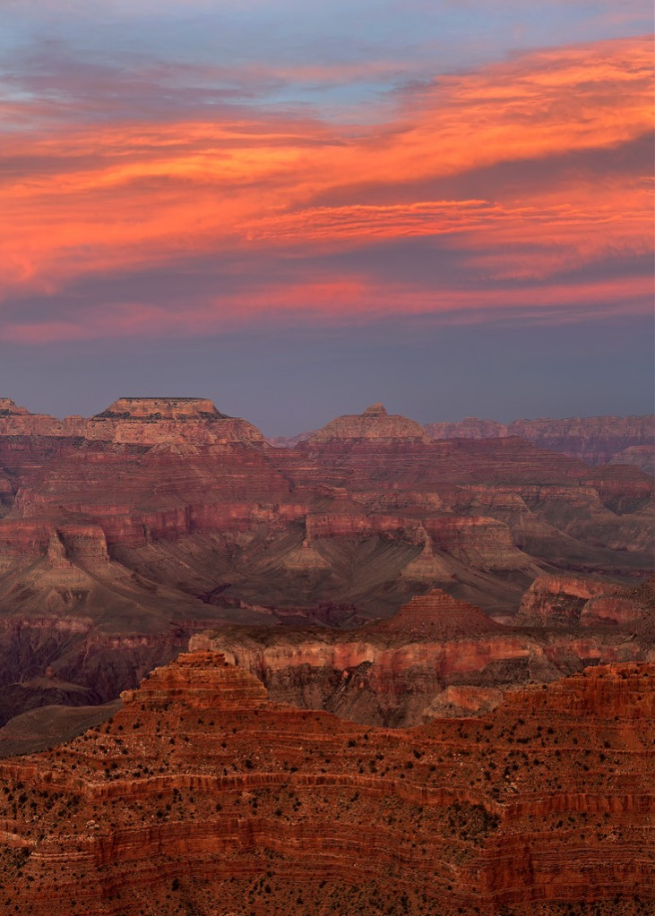 Sunset Clouds Over the Grand Canyon