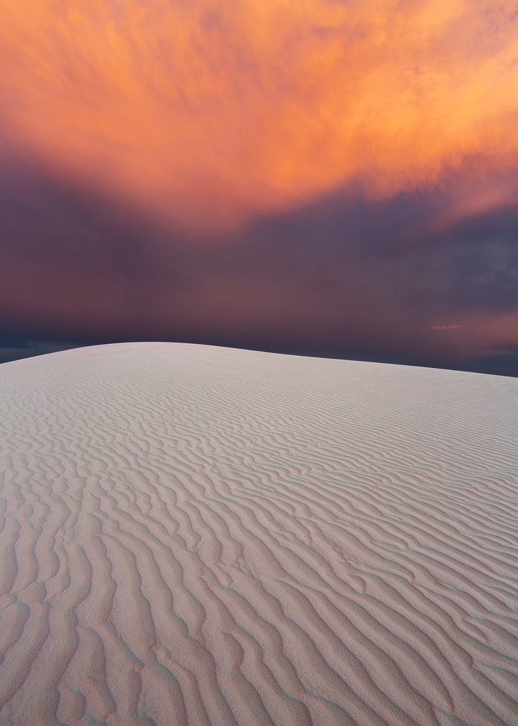Sunset Color Over White Sands