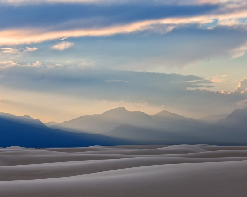 Sunset Landscape at White Sands