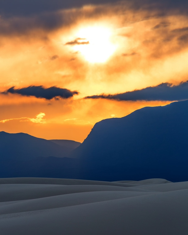 Sunset Over White Sands 8x10