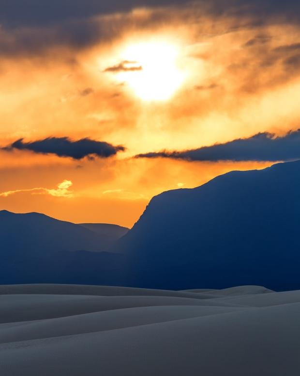Sunset Over White Sands 8x10