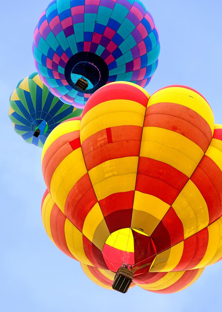 Three Balloons Overhead