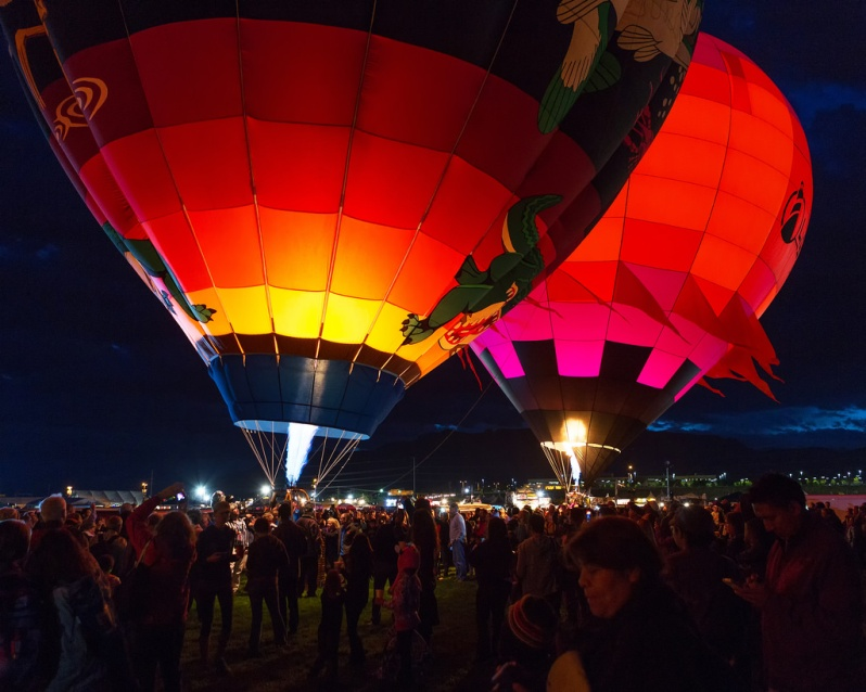 Two Balloons Before Dawn