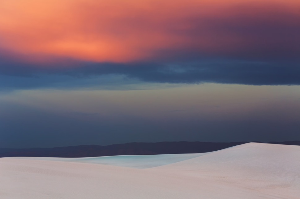 White Sands Sunset Color
