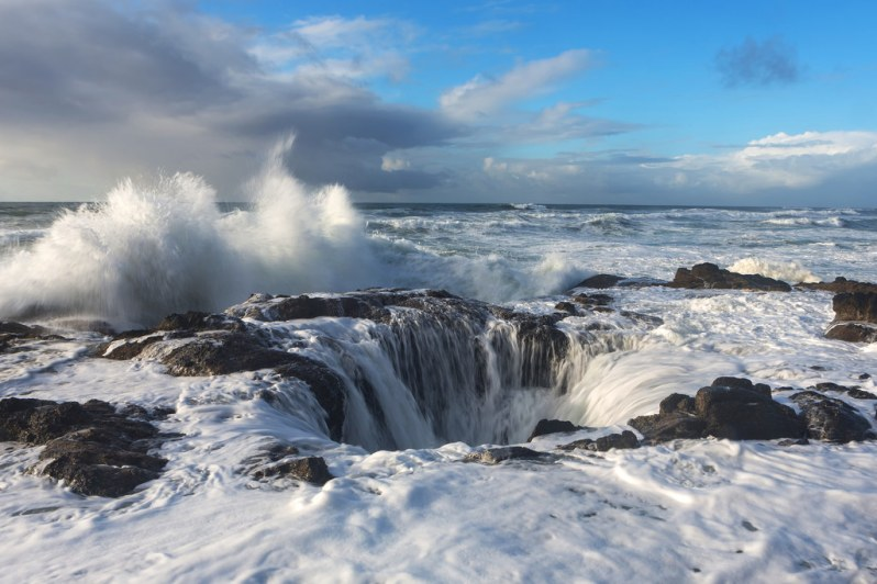 Wave Breaking at Thor's Well