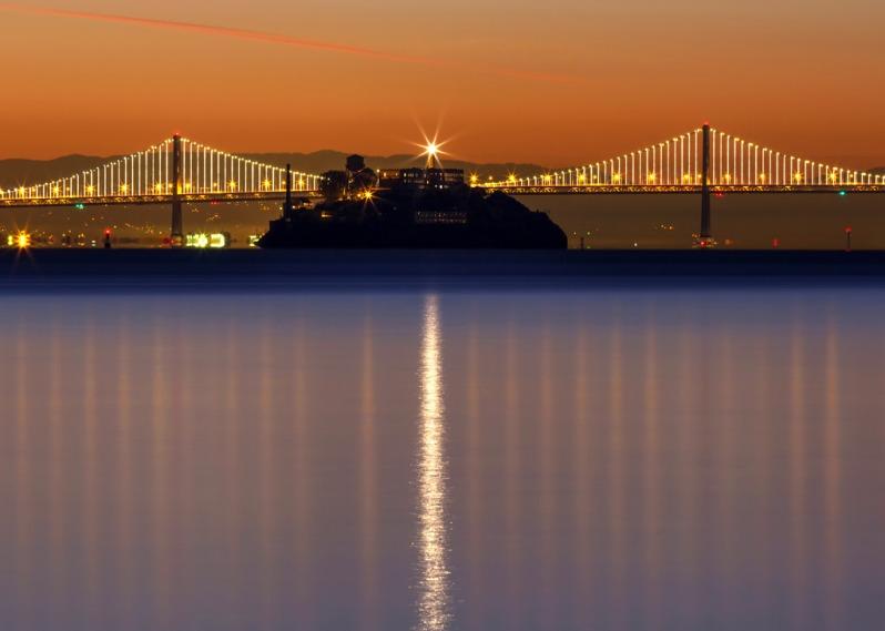 Alcatraz Bay Bridge Lineup