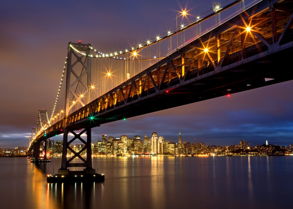 Bay Bridge Purple Skyline