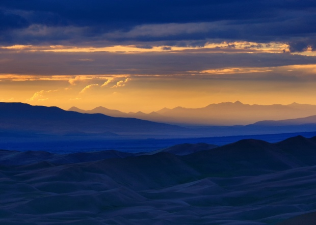 Close-up of Sunset at Great Sand Dunes NP