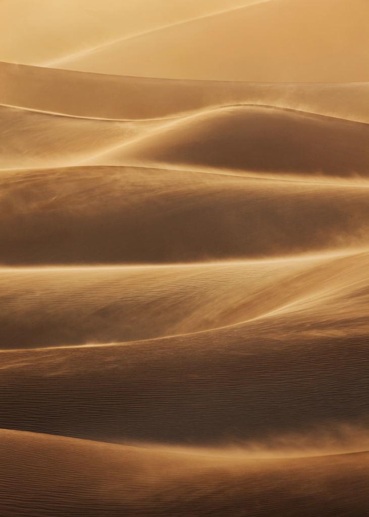 Death Valley Sandstorm Portrait