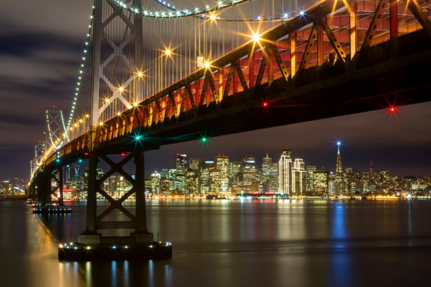 December Bay Bridge and Skyline