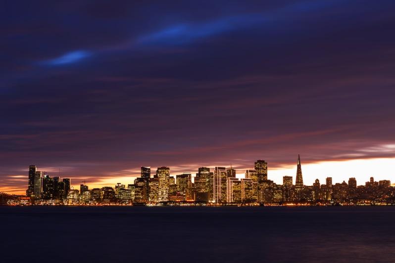 December Sunset Skyline from TI