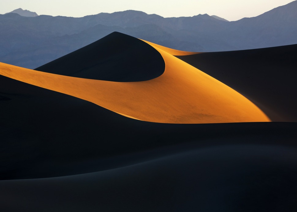 Sunrise on the Mesquite Dunes