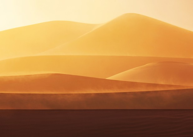 Yellow Orange Red Dune Sunset