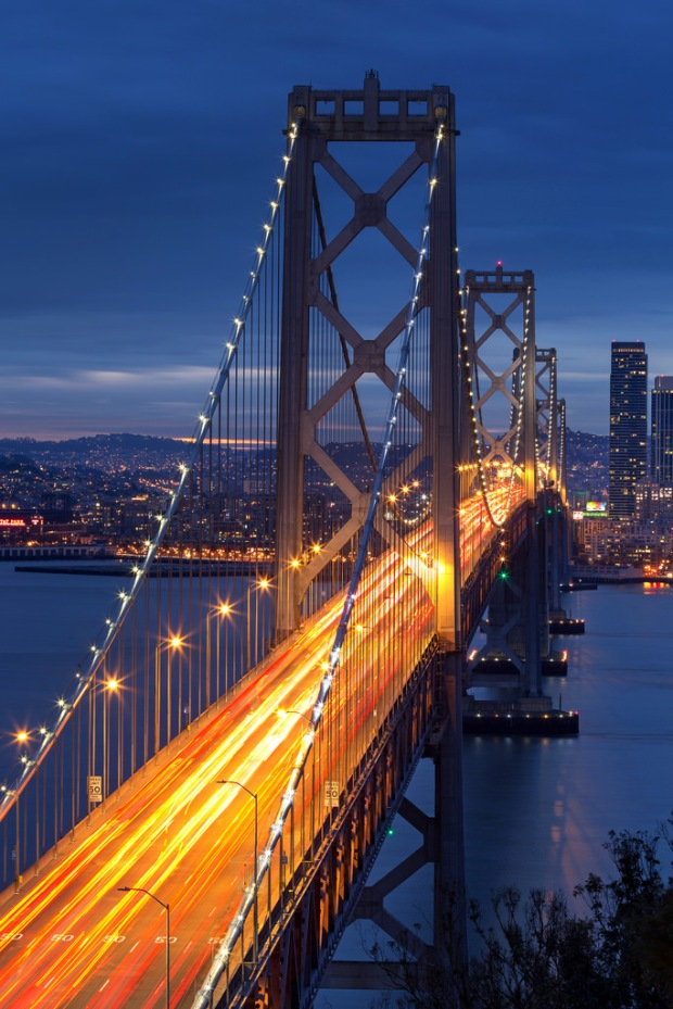 Bay Bridge Blue Hour from Yerba Buena