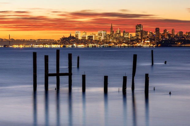 December SF Dawn from Sausalito
