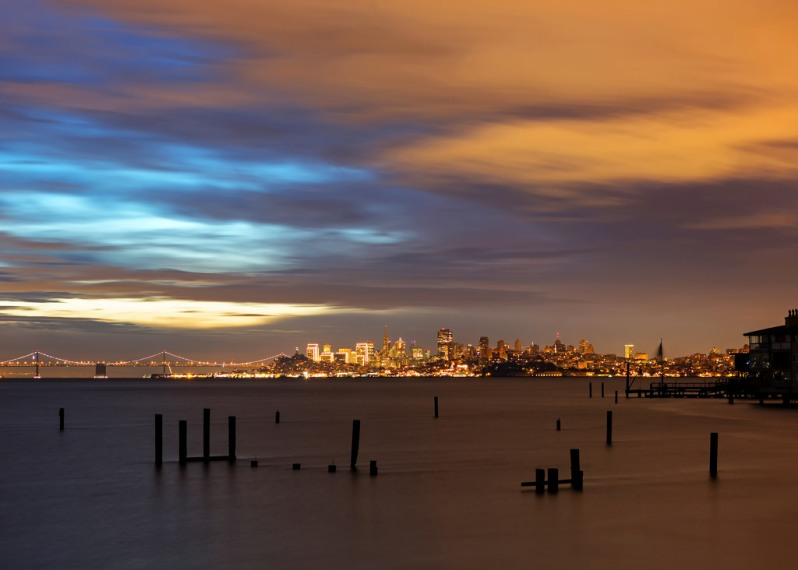 January Clouds Over SF Skyline from Sausalito
