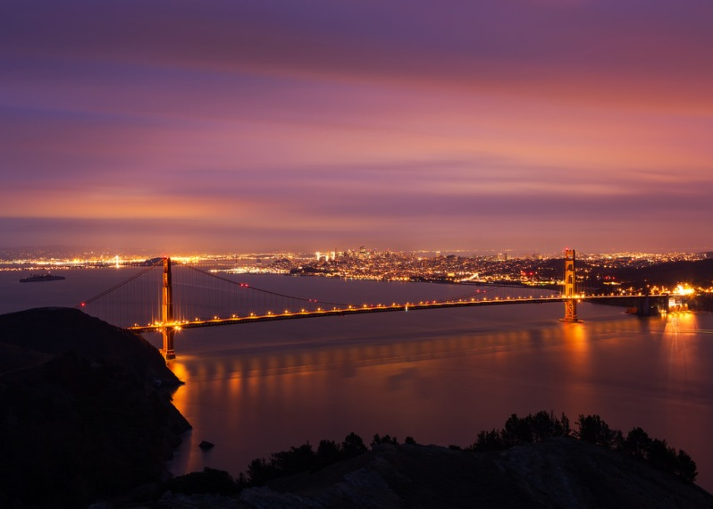 January GGB Pre-Dawn from Hawk Hill