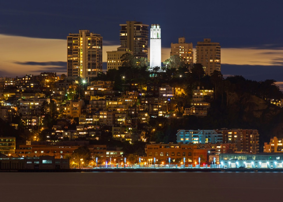 Telegraph Hill After Sunset