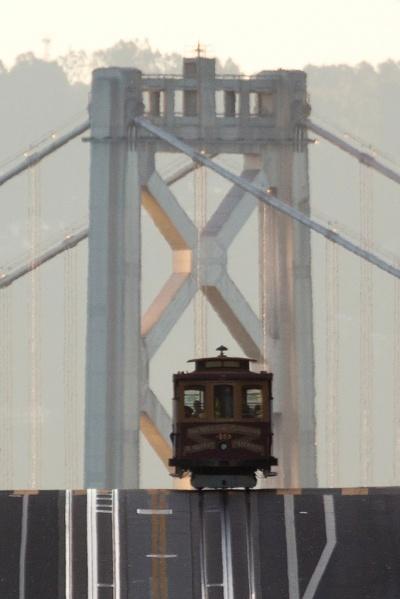 Cable Car Bay Bridge Lineup