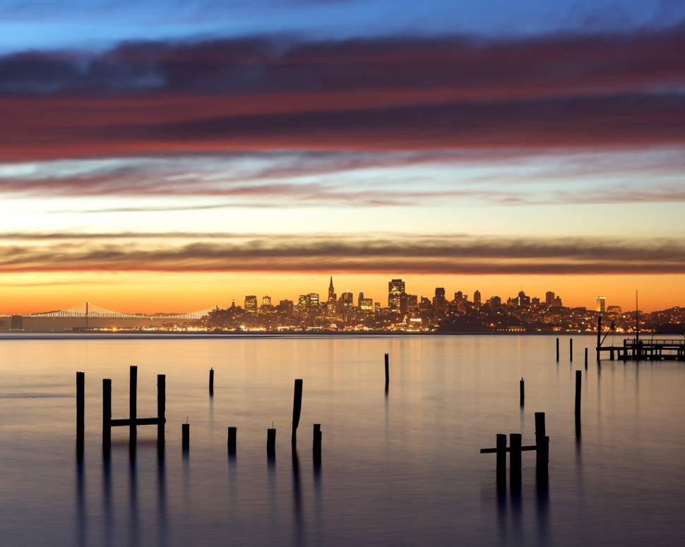 February Sausalito Sunrise 8x10
