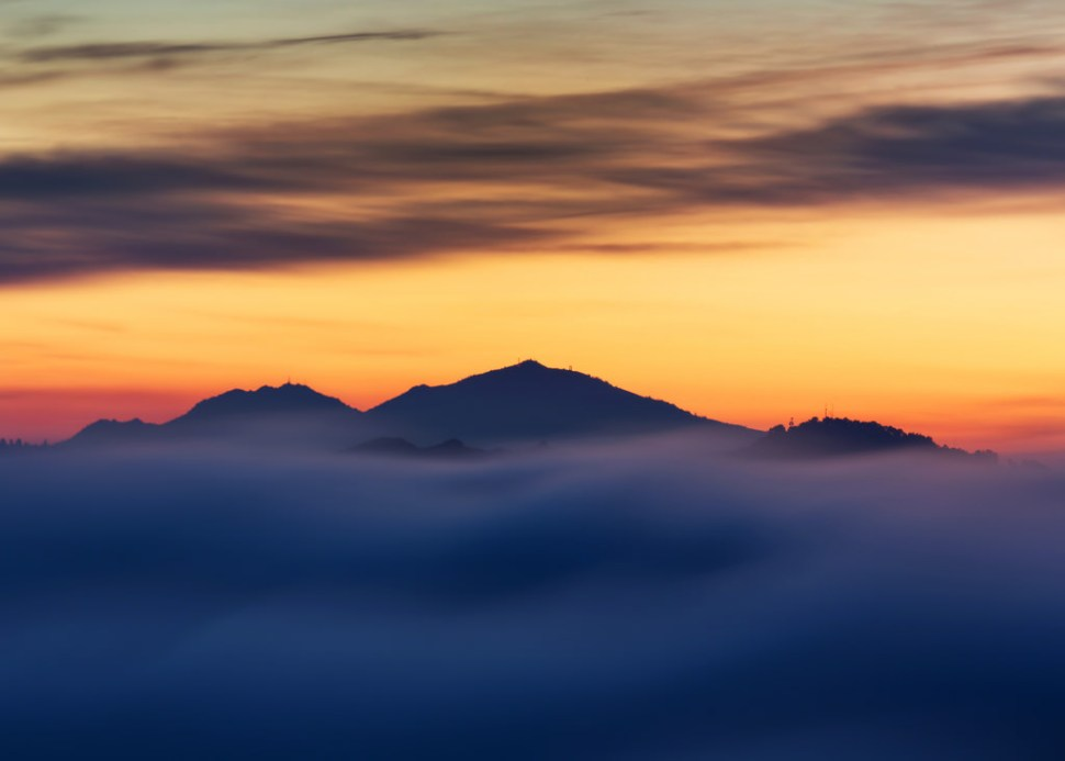 Mount Diablo Foggy Sunrise