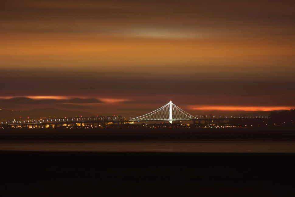 New Bay Bridge Tower Before Dawn