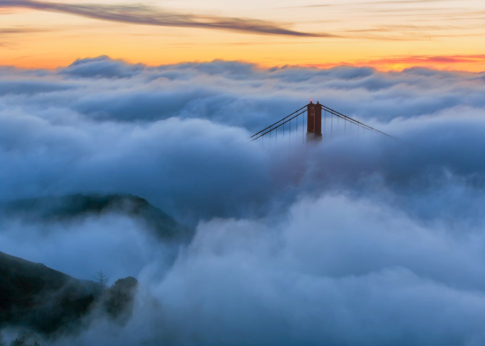 North Tower and Marin Headlands in the Fog